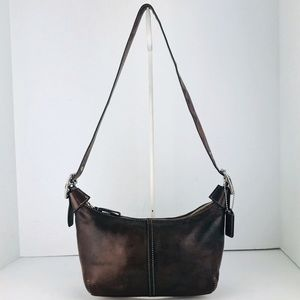 🎁🎄Coach Leather Legacy Convertible Demi Hobo Bag